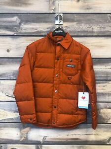 Teen Obermeyer Boys TBs Down Snowshirt Jacket color Iron Oxide size large
