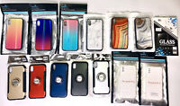 WHOLESALE LOT IPHONE X FASHION CASES MARBLE IRIDESCENT RING CASE MIXED DESIGNS
