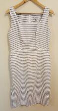 Jigsaw women's designer dress striped size UK 12