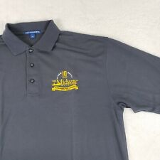USS Midway Museum ANNIVERSARY Golf Polo Shirt S/S Embroidered Gray XL