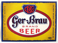 Columbia Brewing GER-BRAU BRAND BEER label PA 32oz