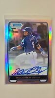 2012 Bowman Chrome Refractor Rougned Odor RC Rookie Autograph AUTO #ed 360/500