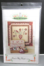 NEW HERE'S MY HEART QUILT SEWING PATTERN Bunny Hill Designs Flowers Bird Heart