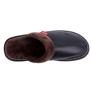 Men Warmer House Slippers Plush Non Slip Indoor Soft Thick Warm Slides Casual