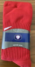 Vintage Nike Classic Cushioned Soccer Socks, Red, Men's 6-1/2 to 12, Brand New