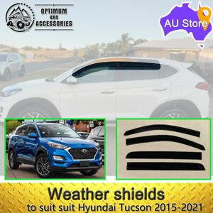 Premium Weather shields Window Visors to suit Hyundai Tucson TL 2015-2021