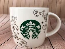 Starbucks Siren Mermaid Swirl White Ceramic Coffee Mug 14 Ounces New Gift