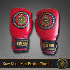 KIDS KRAV MAGA PRO LEATHER BOXING GLOVES - GIRLS/BOYS Teens Ages 6-14