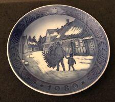 Royal Copenhagen Xmas Plate Bringing Home The Christmas The ChristmasTree 1980