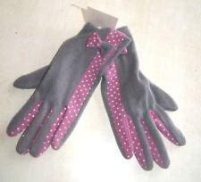 Paire de gants gris et rose neuf taille unique 80% laine (dy)