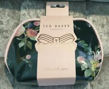 Ted Baker Floral PVC Small Cosmetic Bag / Purse Brand New