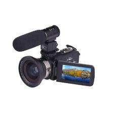 4K WiFi Ultra Hd 1080P 3' Digital Video Camera Camcorder Dv + Lens + Microphone