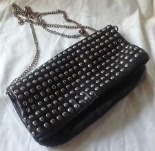 sac à main femme H&M souple noir clous a fermeture desing souple 2 grandeurs