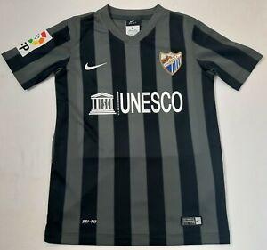 Malaga 2014/2015 NIKE Away Centenary Football Shirt Boys Size S 8-10Y Jersey