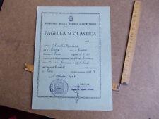 PAGELLA SCOLASTICA SCUOLA ELEMENTARE ANNO SCOLASTICO  1962/1963