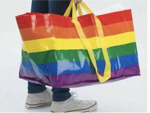 Ikea Large Rainbow Bag, Beach Bag, Storage, Shopping, Laundry, Summer Bag