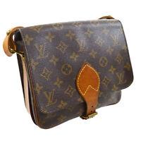 LOUIS VUITTON CARTOUCHIERE MM SHOULDER BAG PURSE MONOGRAM M51253 SL0930 30182