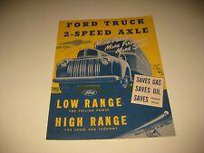 Vintage Original 1940's Ford Truck 2 Speed Axle Sales Brochure