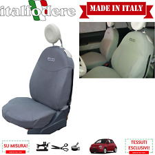 FODERE 500 SU MISURA! COPRISEDILI 500 Fiat COPPIA Foderine ANTERIORI Grigio 308