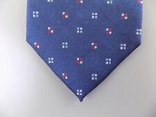 "VINCE CAMUTO $90 MEN Blue Geometric Skinny WIDTH 3"" NECK TIE SILK BLEND A27"