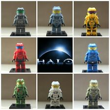 Halo Space Marines Soldiers Xbox One Game 8 Mini Figures Use With Lego Die Cast
