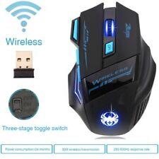 ZELOTES 2.4G Wireless Gaming Maus  Einstellbare 2400 DPI Mouse für Laptop PC BL