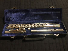 Artley Open Hole Flute Silver W/Plugs and Hard Case Pre-Owned