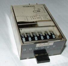 SODECO rg161 V 20 cc 6 CIFRE electro-mechanical COUNTER con il pulsante Reimposta rg-161