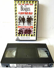 Vintage THE BEATLES - A HARD DAY'S NIGHT : VHS Video Cassette Tape 5014138065096