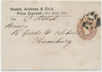 Gb 1878 QV 1 D printed to order postal stationery ADVERTISING wrapper HAMBURG