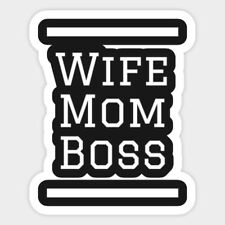 Wife Mom Boss Motivation Vinyl Decal Macbook Laptop Window Glass Quote Sticker