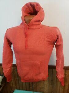 vintage hoody sweatshirt cotton 40's 50's nwot small youth 14 reddish-unworn