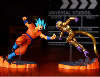 Dragon Ball Z Super Saiyan Goku Blue And Frieza Action Figure Collectible Toy