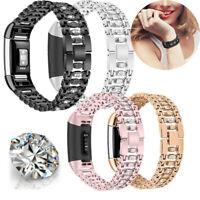 Für Fitbit Charge 2 Uhrenarmband Loop Mesh Metall Edelstahl Ersatz Watch Strap
