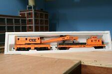 HO Scale Mehano Crane and Boom Tender Car CSX