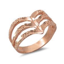 10K Rose Gold Triple Chevron Ladies DC Nugget Ring