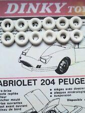 Lot de 12 pneus blancs 17/8eme  Dinky Toys