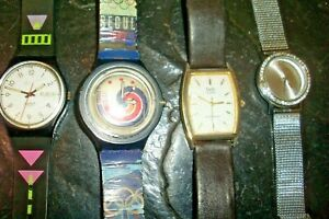Vintage Watch Collection Lot 4-Seoul Olympics Swatch etc.-Selling as is-Repair