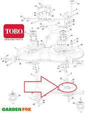 Genuine TORO DH170 DH190 DH210 DH220 BLADE HOLDER ADAPTER 106-4185