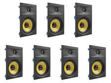 """7 Pack - TDX 8"""" 2-Way In Wall Home Theater Surround Sound Speaker Flush White"""