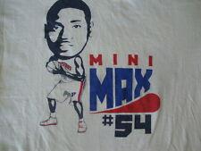 NBA Detroit Pistons Jason Maxiell Mini Max caricature cartoon T Shirt Adult L