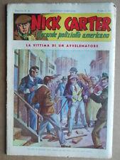 Nick Carter Il Grande poliziotto americano Anni 40 n°6 ed. NERBINI  [G369]