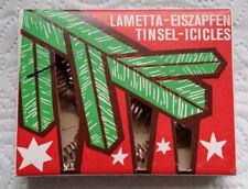Uralte Lametta-Eiszapfen / Tinsel-Icicles /  10 Stück in Originalschachtel