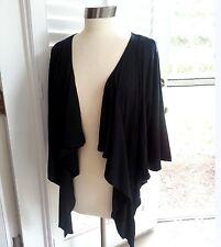 Womens BLACK Cardigan Bolero Drip Front Shrug Top Yummy Plus Size 1X