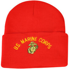 United State US Marine Corps Military Knit Beanie Cuffed Support Soldiers  Red e84f85858051