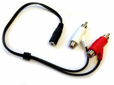 Audio Estéreo Rca Splitter Cable Lead-Para Turtle Beach X31 PX3 & Otros Auriculares