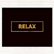 Black Gold Relax Boxed Quote Mouse Mat Pad