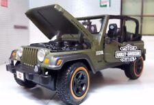 Jeep Rubicon Wrangler 4x4 G 1:27 24 Escala Harley Davidson Fundido Maisto Modelo
