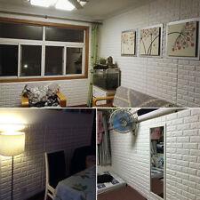 Retro 3D PE Foam Tile Brick Waterproof & Self-Adhesive Panels Decal Wall Sticker