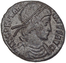Constantius II. AD 337-361. Æ Centenionalis, Emperor on Galley ship